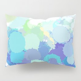 Blue watercolor abstract splatter Pillow Sham