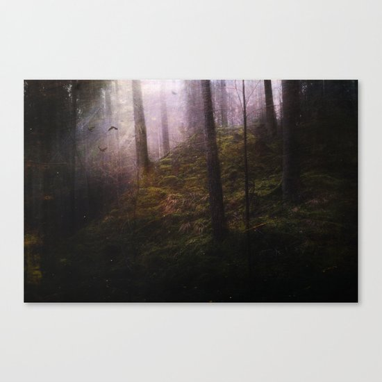 Travelling darkness Canvas Print