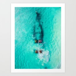 Wrecked Art Print