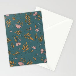 I Can See The Change / Deep Green Pattern Stationery Cards