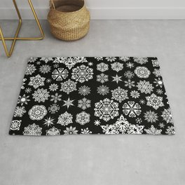 Winter Snowflakes Rug