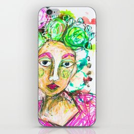 She tried to understand him iPhone Skin