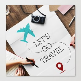 Let's Go Travel Canvas Print