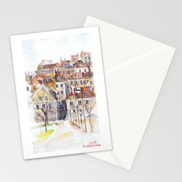 Old Town in Warsaw Poland Stationery Cards