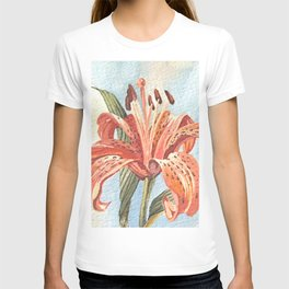 Orange Tiger Lily Watercolor Painting T-shirt