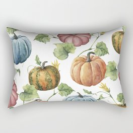 PUMPKINS WATERCOLOR Rectangular Pillow