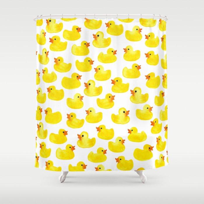 Rubber Ducks Shower Curtain