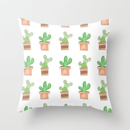 Cactus Print Throw Pillow