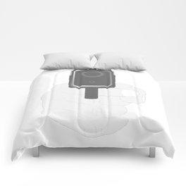 Hand Gun Halftone Comforters