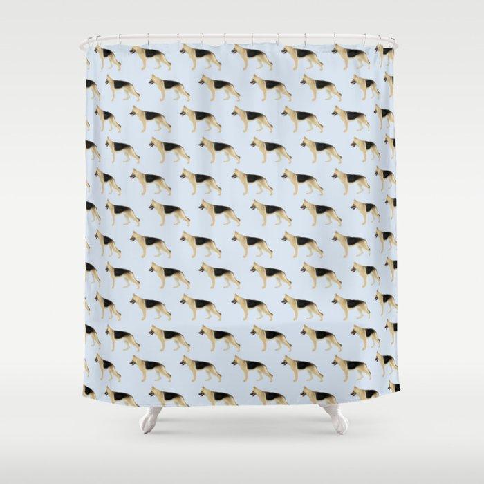 German Shepherd Faded Black Tan Shower Curtain