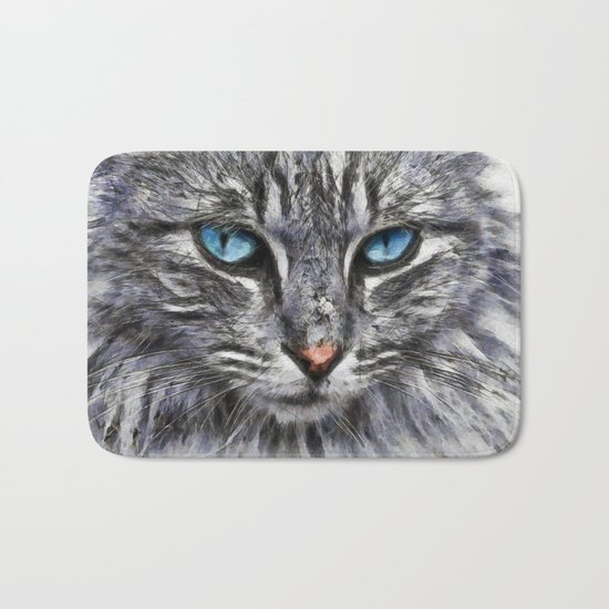 Cat Portrait Bath Mat