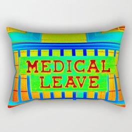 Medical Leave Art Rectangular Pillow