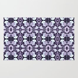 Violet  Roses Seamless Pattern Rug