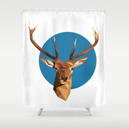 oh deer, triangles. Shower Curtain