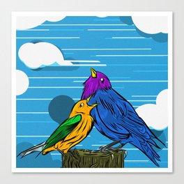 A Cloud of Birds Canvas Print