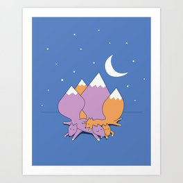 Let sleeping foxes lie Art Print