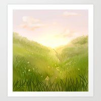 aperture Art Prints featuring Aperture Meadow by molmcintosh