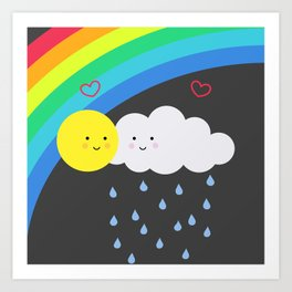 the truth about rainbows Art Print