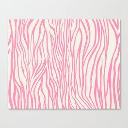 Cute Pink Zebra Skin Pattern Canvas Print