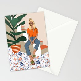 Terracotta Patchwork Stationery Cards