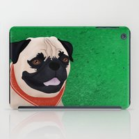 pug iPad Cases featuring Pug by Nir P