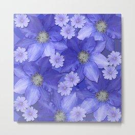 Violet Blue x Blossoms Metal Print