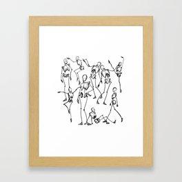 For the Love of Figures II Framed Art Print