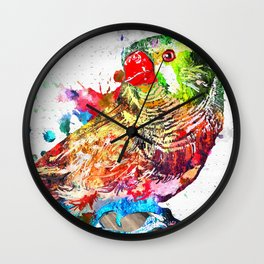 Zebra Finch Wall Clock