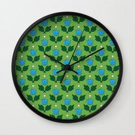 Minimal Floral Pattern Wall Clock