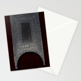 White, Black & Red Stationery Cards