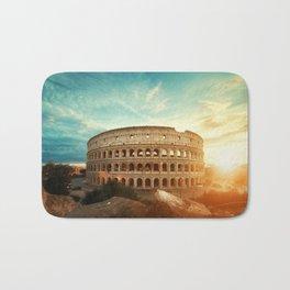 Colosseum Amphitheatre Rome Italy Bath Mat
