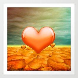 Heartrain Art Print