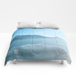 Mountains and ocean Comforters