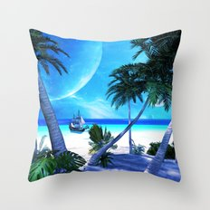 View over the ocean Throw Pillow