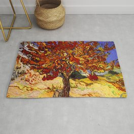 Vincent Van Gogh Mulberry Tree Rug