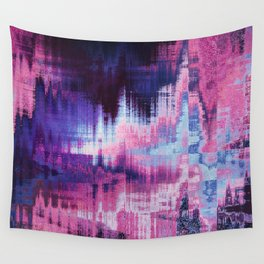 Violet Abstract Glitch effect Wall Tapestry
