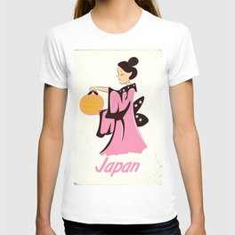 Geisha girl Japan vintage poster T-shirt