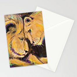 Long Lasting Lion Love Stationery Cards