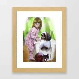 The meaning we give our lives Framed Art Print