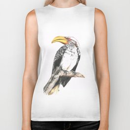 Southern Yellow-Billed Hornbill - Colored Pencil Biker Tank