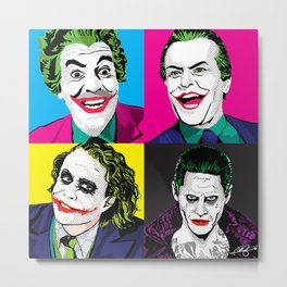 Pop Quad: The Joker Metal Print