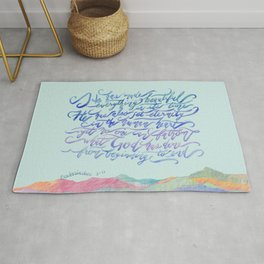 He Has Made Everything Beautiful-Ecclesiastes 3:11 Rug