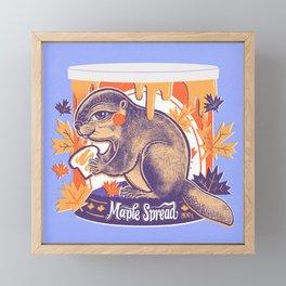 Beaver in a can Framed Mini Art Print