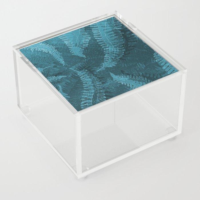 Ferns (light) abstract design Acrylic Box