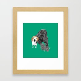 Max and Jimmy Framed Art Print