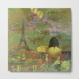 On the roofs of Paris Metal Print