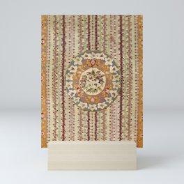 Saltillo North Mexican Serape Floral Blanket Print Mini Art Print