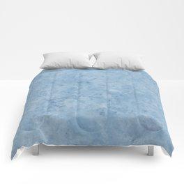 Lento blue marble Comforters