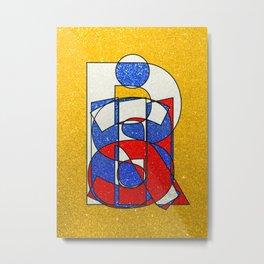 RUSSIA - Gold - Glitter Metal Print