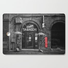 Souvenirs from Bologna Black and White Photography Street Cutting Board